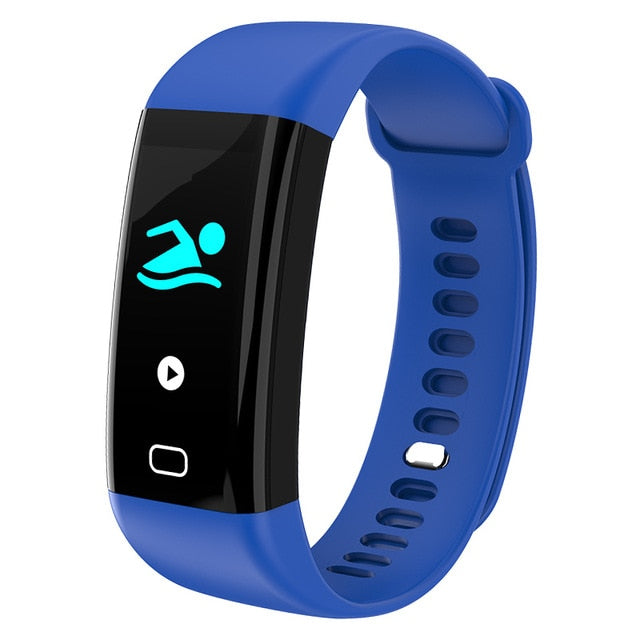 KAIHAI H20 Swim fitness tracker blood pressure heart rate monitor wristwatch sport smart bracelet band Waterproof IP68 Wristband-hipnfly-Blue-hipnfly