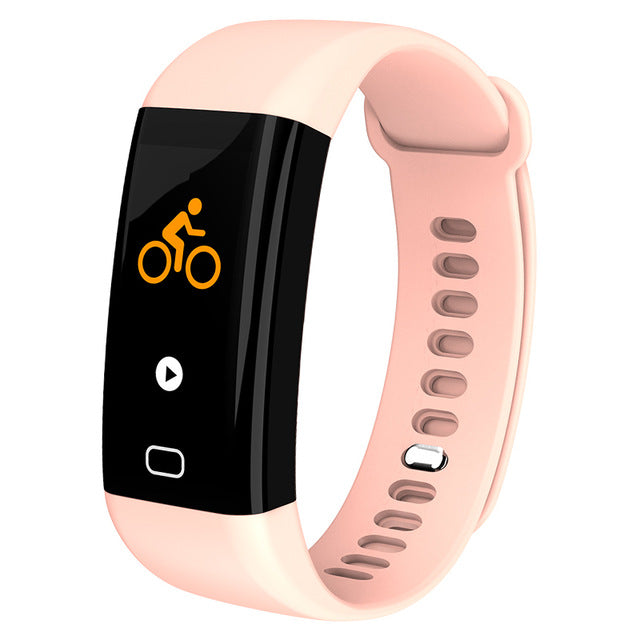 KAIHAI H20 Swim fitness tracker blood pressure heart rate monitor wristwatch sport smart bracelet band Waterproof IP68 Wristband-hipnfly-Pink-hipnfly
