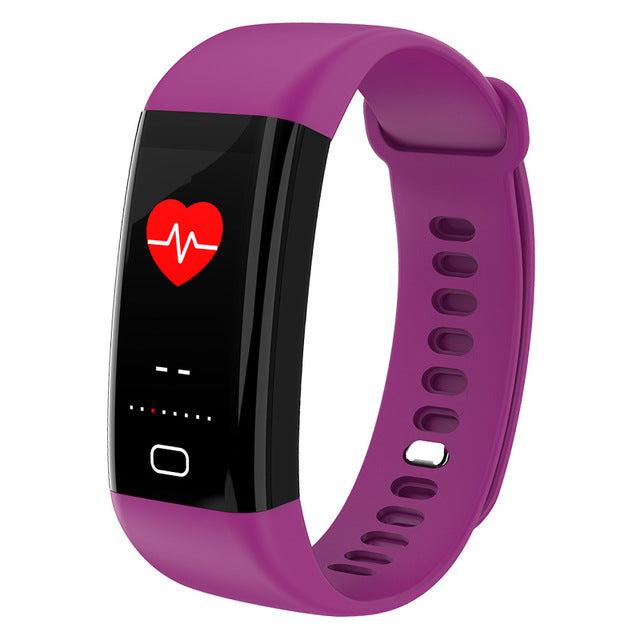 KAIHAI H20 Swim fitness tracker blood pressure heart rate monitor wristwatch sport smart bracelet band Waterproof IP68 Wristband-hipnfly-Purple-hipnfly