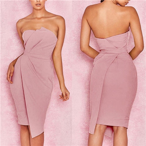 2018 Summer New Fashion Leisure Women Sexy Stylish Bodycon Dress Female Off Shoulder Striking Fold Front Asymmetric Party Dress-hipnfly-As photo shows 3-S-hipnfly