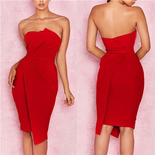 2018 Summer New Fashion Leisure Women Sexy Stylish Bodycon Dress Female Off Shoulder Striking Fold Front Asymmetric Party Dress-hipnfly-As photo shows 2-S-hipnfly