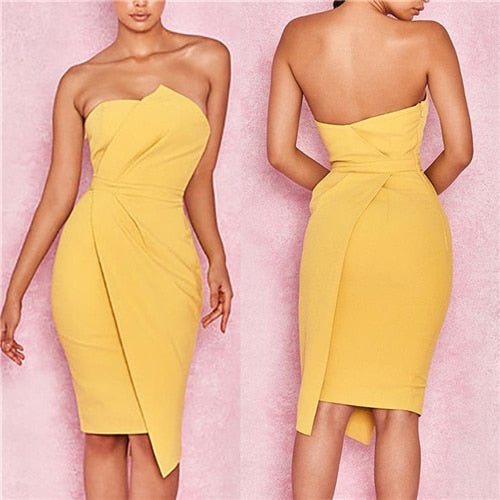 2018 Summer New Fashion Leisure Women Sexy Stylish Bodycon Dress Female Off Shoulder Striking Fold Front Asymmetric Party Dress-hipnfly-As photo shows 4-S-hipnfly