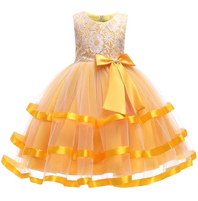 Summer Christmas Girl Dress Upscale 3-14 yrs princess Dresses girls Wedding Sequins Embroidered Formal Girl Birthday Party Dress