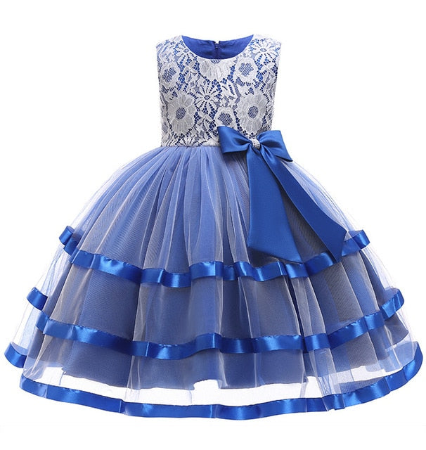 Summer Christmas Girl Dress Upscale 3-14 yrs princess Dresses girls Wedding Sequins Embroidered Formal Girl Birthday Party Dress-hipnfly-as picture 2-3T-hipnfly
