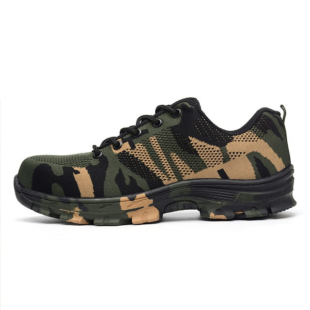 Indestructible PowerShoes Military Safety Work Boots Camouflage Puncture Indestructible Shoes-hipnfly-Green-11-hipnfly
