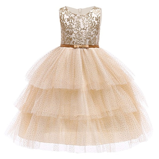Baby Embroidered Formal Princess Dress for Girl Elegant Birthday Party Dress Girl Dress Baby Girl Christmas Clothes 2-14 Years-hipnfly-as picture 8-3T-hipnfly
