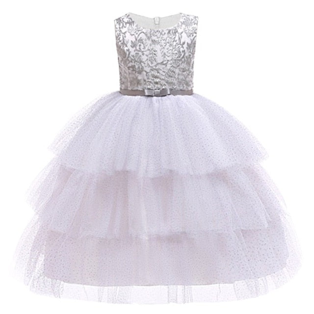Baby Embroidered Formal Princess Dress for Girl Elegant Birthday Party Dress Girl Dress Baby Girl Christmas Clothes 2-14 Years-hipnfly-as picture 12-3T-hipnfly