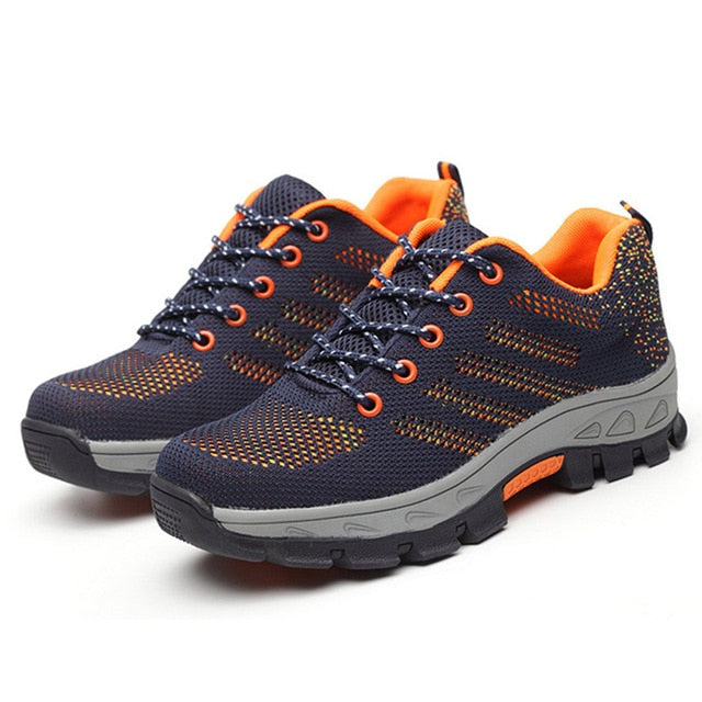 Indestructible PowerShoes Military Safety Work Boots Camouflage Puncture Indestructible Shoes-hipnfly-Orange B-11-hipnfly