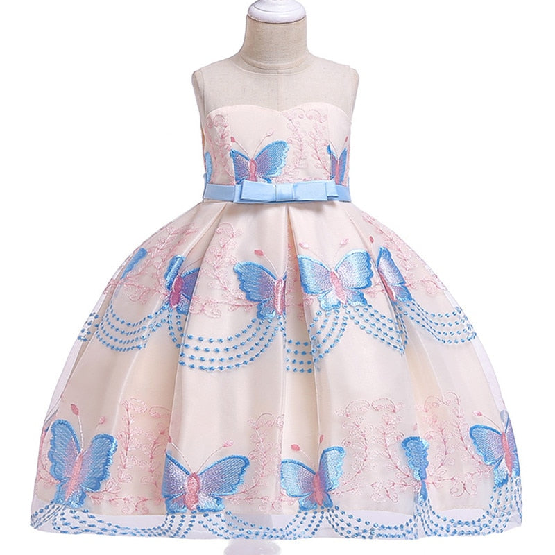 Children Girl Party Dress Wedding Christmas Evening Formal dresses Kids Sleeveless Flower Dresses for girls 3-10 years Princess-hipnfly-hipnfly