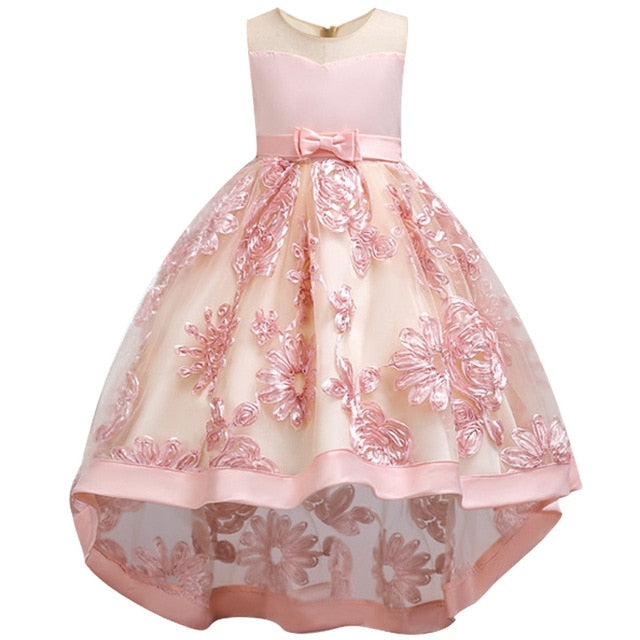 Children Girl Party Dress Wedding Christmas Evening Formal dresses Kids Sleeveless Flower Dresses for girls 3-10 years Princess-hipnfly-pink-3T-hipnfly