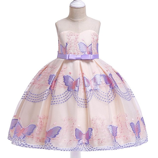Children Girl Party Dress Wedding Christmas Evening Formal dresses Kids Sleeveless Flower Dresses for girls 3-10 years Princess-hipnfly-purple-3T-hipnfly