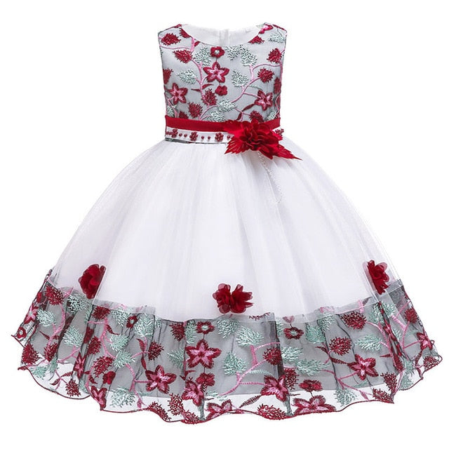 Children's dress 2018 new 3 4 5 6 7 8 years old lace color matching girls princess party dress summer baby tutu clothing-hipnfly-Red wine-3T-hipnfly