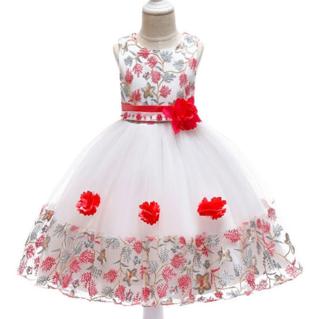Children's dress 2018 new 3 4 5 6 7 8 years old lace color matching girls princess party dress summer baby tutu clothing-hipnfly-red 2-3T-hipnfly