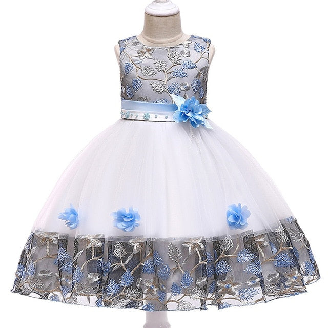 Children's dress 2018 new 3 4 5 6 7 8 years old lace color matching girls princess party dress summer baby tutu clothing-hipnfly-sky blue-3T-hipnfly