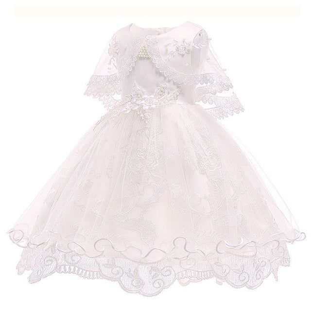 Children's dress 2018 new 3 4 5 6 7 8 years old lace color matching girls princess party dress summer baby tutu clothing-hipnfly-white 1-3T-hipnfly