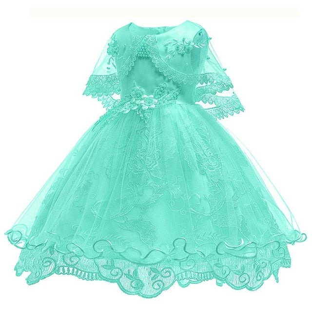 Children's dress 2018 new 3 4 5 6 7 8 years old lace color matching girls princess party dress summer baby tutu clothing-hipnfly-green-3T-hipnfly