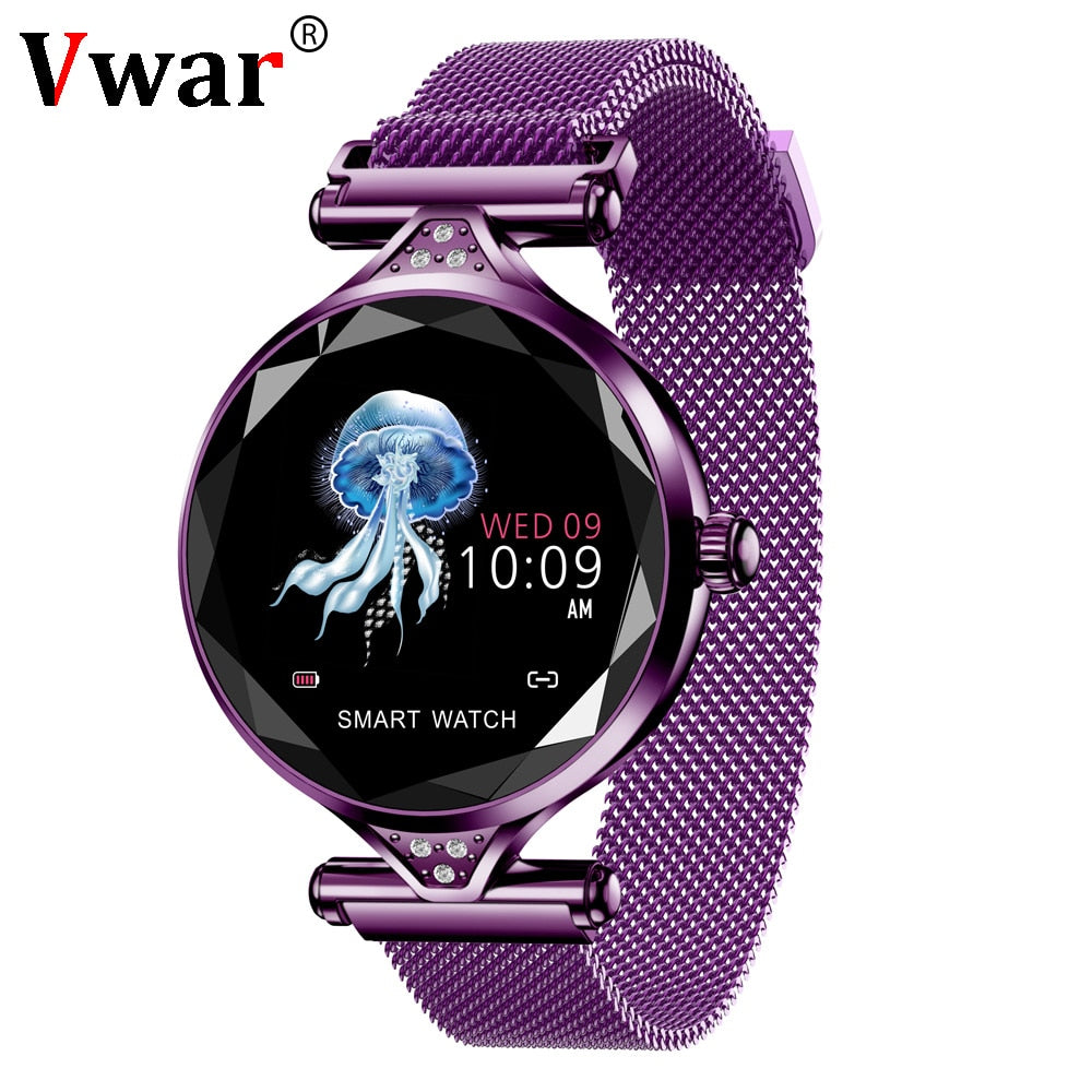 Vwar Women Fashion Smart Watch 2019 Blood Pressure Heart Rate Sleep Monitor Pedometer luxury ladies Smartwatch Gift for Girl-hipnfly-hipnfly