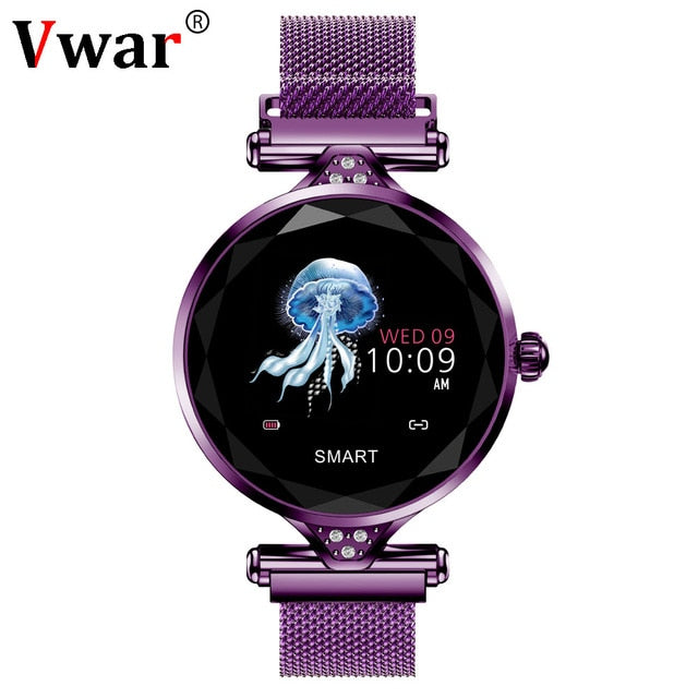 Vwar Women Fashion Smart Watch 2019 Blood Pressure Heart Rate Sleep Monitor Pedometer luxury ladies Smartwatch Gift for Girl