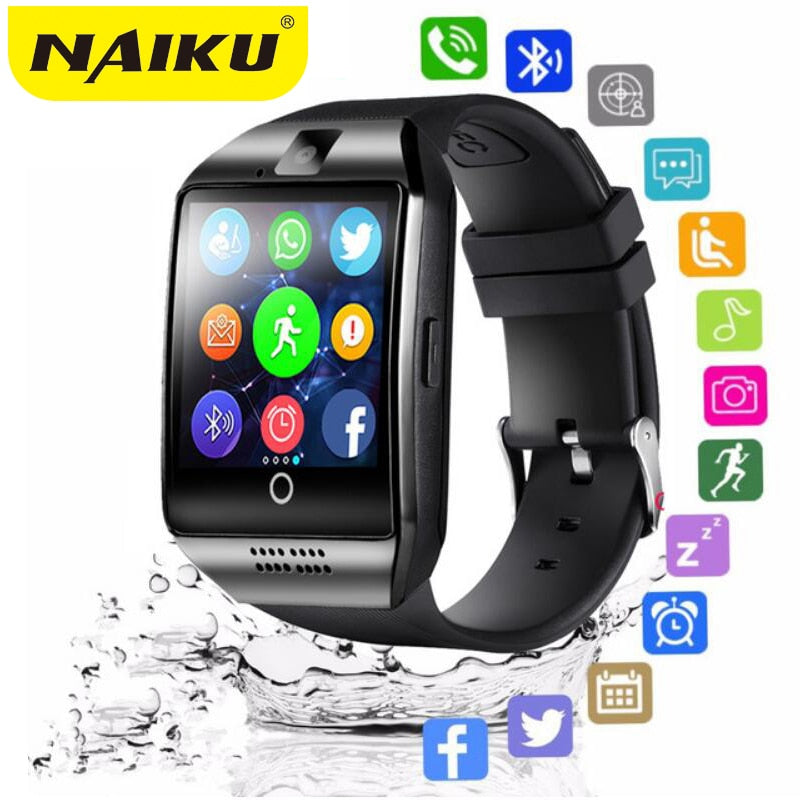 Bluetooth Smart Watch men Q18 With Camera Facebook Whatsapp Twitter Sync SMS Smartwatch Support SIM TF Card For IOS Android-hipnfly-hipnfly