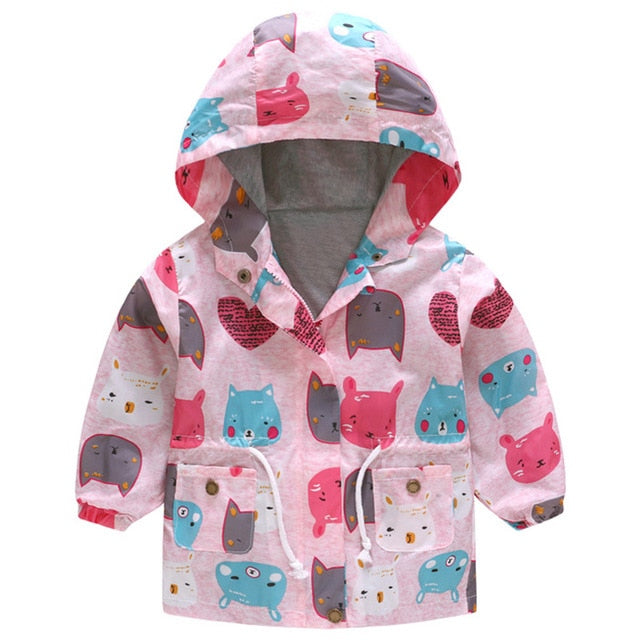 New Girls jacket children's clothing girl trench coat kids jacket hooded girl coats Winter Trench Wind Dust Hooded Outerwear-hipnfly-as picture-2T-hipnfly