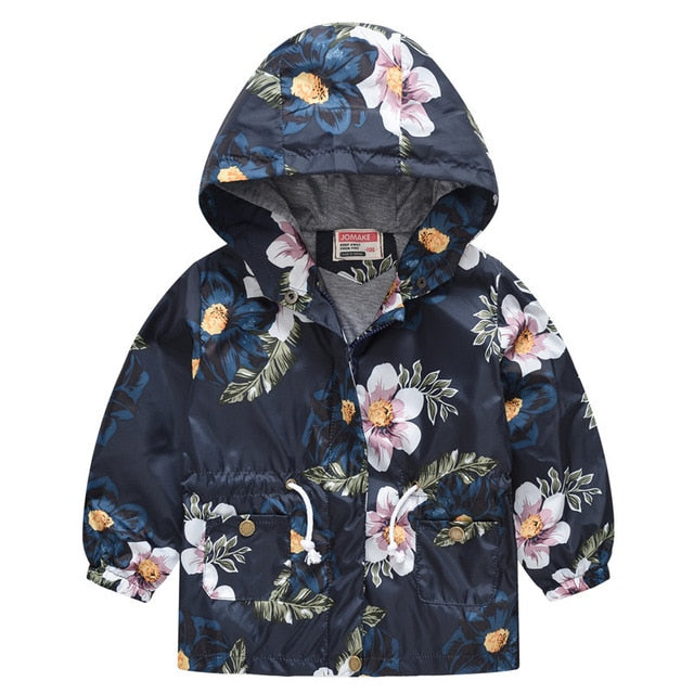 New Girls jacket children's clothing girl trench coat kids jacket hooded girl coats Winter Trench Wind Dust Hooded Outerwear-hipnfly-as picture 2-2T-hipnfly
