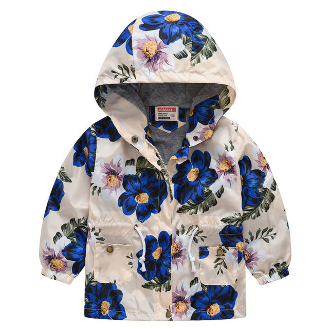 New Girls jacket children's clothing girl trench coat kids jacket hooded girl coats Winter Trench Wind Dust Hooded Outerwear-hipnfly-as picture 3-2T-hipnfly