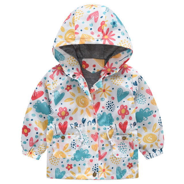 New Girls jacket children's clothing girl trench coat kids jacket hooded girl coats Winter Trench Wind Dust Hooded Outerwear-hipnfly-as picture 4-2T-hipnfly