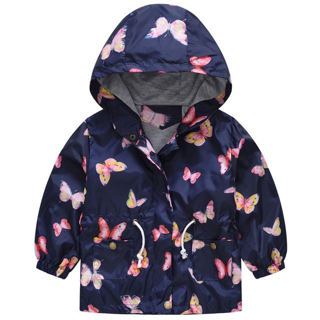 New Girls jacket children's clothing girl trench coat kids jacket hooded girl coats Winter Trench Wind Dust Hooded Outerwear-hipnfly-as picture 5-2T-hipnfly