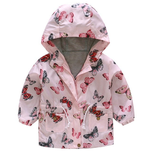 New Girls jacket children's clothing girl trench coat kids jacket hooded girl coats Winter Trench Wind Dust Hooded Outerwear-hipnfly-as picture 6-2T-hipnfly