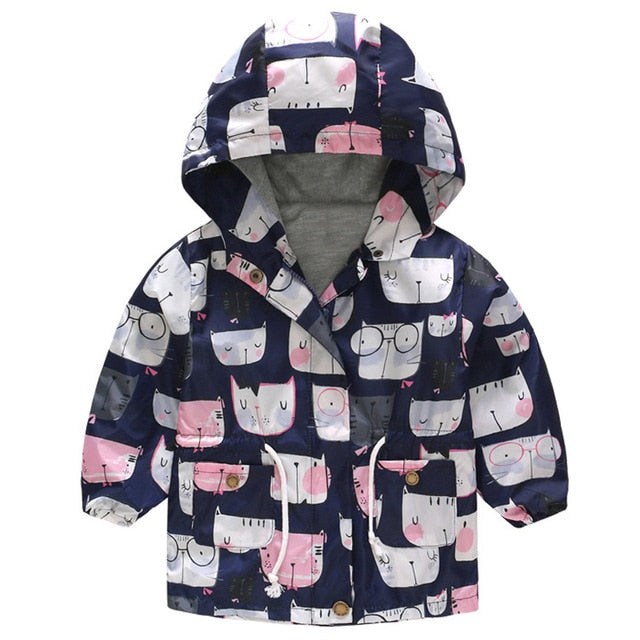 New Girls jacket children's clothing girl trench coat kids jacket hooded girl coats Winter Trench Wind Dust Hooded Outerwear-hipnfly-as picture 7-2T-hipnfly