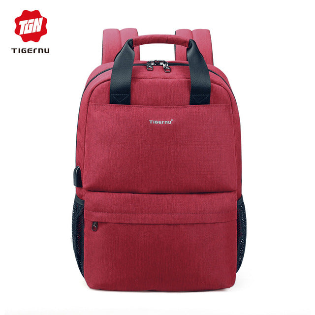Tigernu Brand Casual fashion women USB charging School Backpack feminine 15.6 Laptop backpacks for teenage girls Mochila
