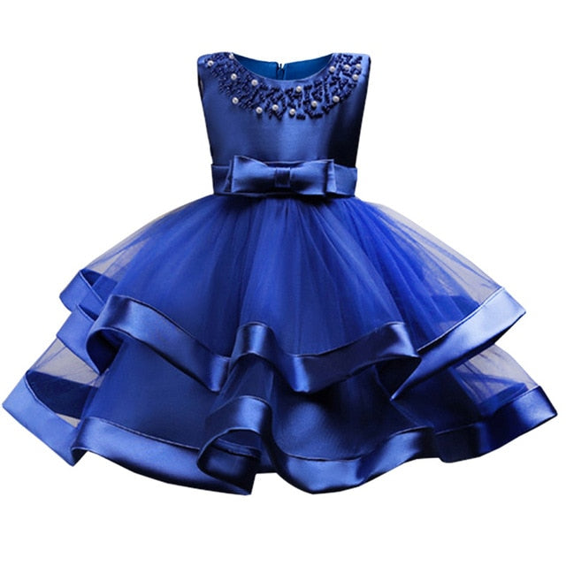 Baby Girls Party Dress 2018 Elegant Girl Evening Dress For Wedding Birthday Kids Dresses For 2 to 10 yeas Girls Clothes-hipnfly-blue-2T-hipnfly