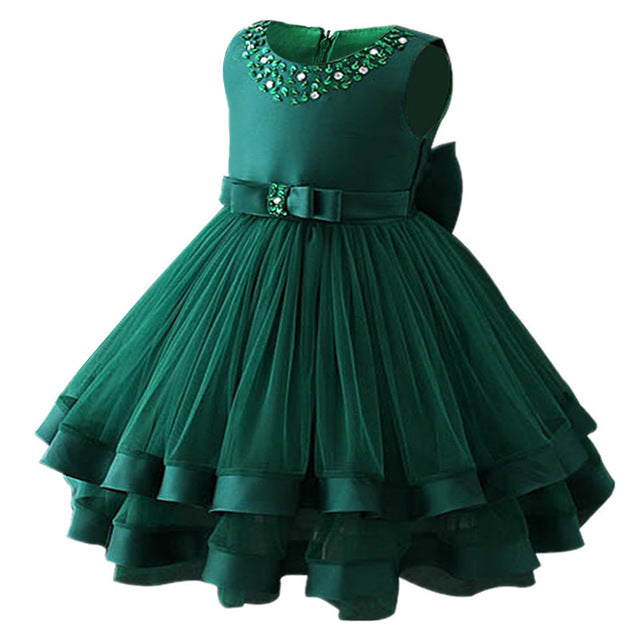 Baby Girls Party Dress 2018 Elegant Girl Evening Dress For Wedding Birthday Kids Dresses For 2 to 10 yeas Girls Clothes-hipnfly-Green-2T-hipnfly