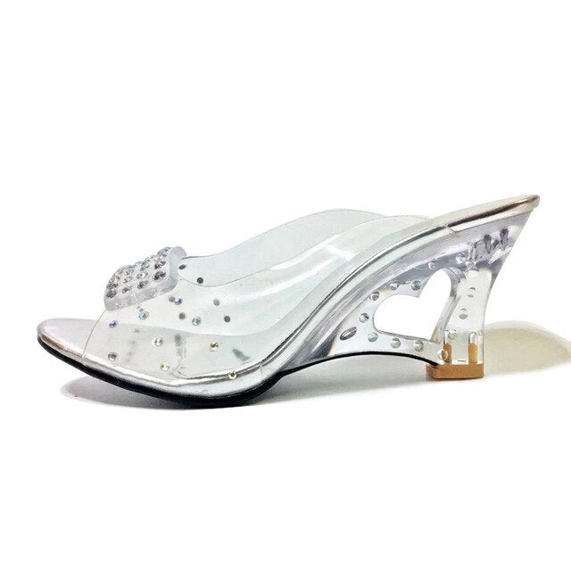 TAOFFEN Size 30-43 New Summer Sandals Women Peep Open Toe Wedge Sandals Slip On Sweet Jelly Shoes Woman Summer Shoes For Lady-hipnfly-Silver-3-hipnfly