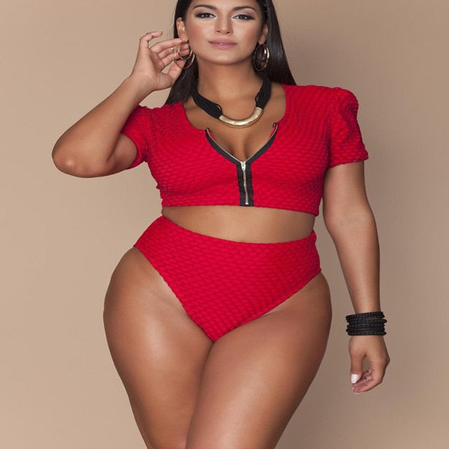 Swimsuit Bikini Plus Size Swimsuit Separate Large Size Women's Swimwear Swimming Suit For Women Push Up Bikini Set 2019 New