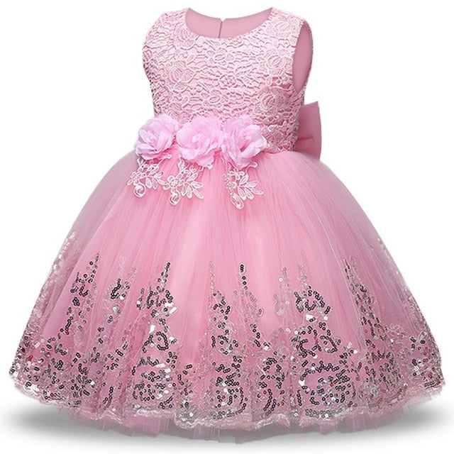Summer Girls floral Princess party Dresses Costume Kids Girls clothes wedding birthday For Girls Dress tutu baby Girls clothing-hipnfly-Pink-3T-hipnfly