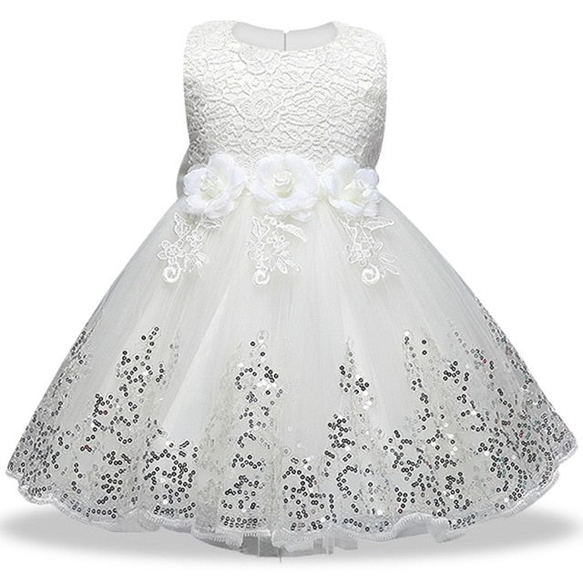 Summer Girls floral Princess party Dresses Costume Kids Girls clothes wedding birthday For Girls Dress tutu baby Girls clothing-hipnfly-White-3T-hipnfly