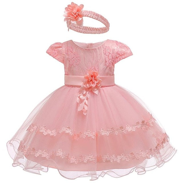 2019 Summer Easter Baby Girl Clothes Wedding Newborn Dress For Girl Princess Dress Infant 1 Year First Birthday Girl Party Dress-hipnfly-Pink 1-12M-hipnfly