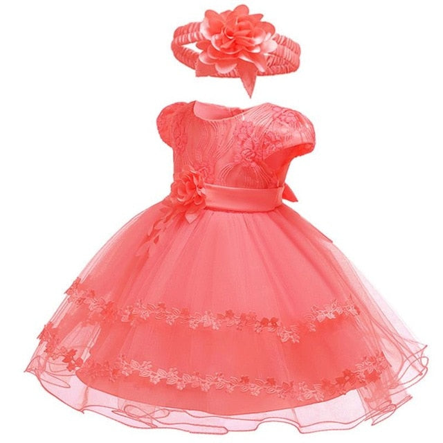 2019 Summer Easter Baby Girl Clothes Wedding Newborn Dress For Girl Princess Dress Infant 1 Year First Birthday Girl Party Dress-hipnfly-Watermelon Red 1-12M-hipnfly