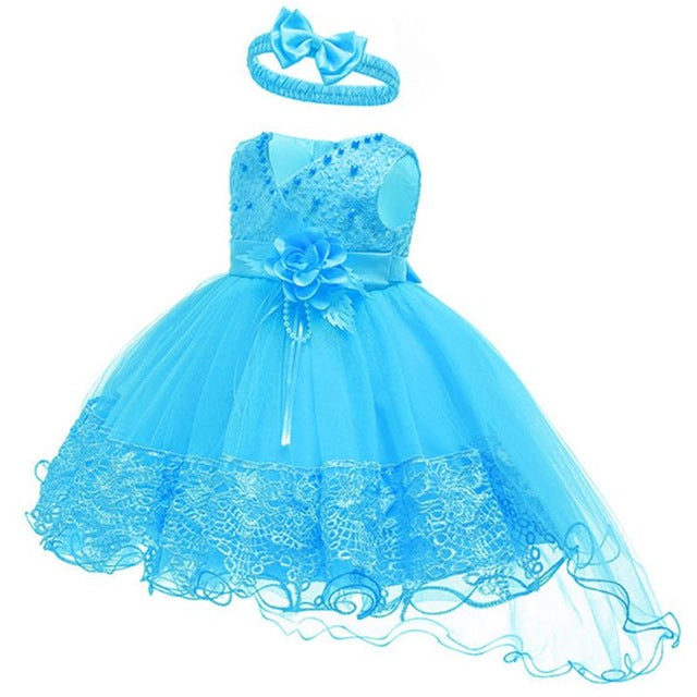 2019 Summer Easter Baby Girl Clothes Wedding Newborn Dress For Girl Princess Dress Infant 1 Year First Birthday Girl Party Dress-hipnfly-Lake Blue-3M-hipnfly