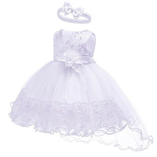 2019 Summer Easter Baby Girl Clothes Wedding Newborn Dress For Girl Princess Dress Infant 1 Year First Birthday Girl Party Dress-hipnfly-White-3M-hipnfly