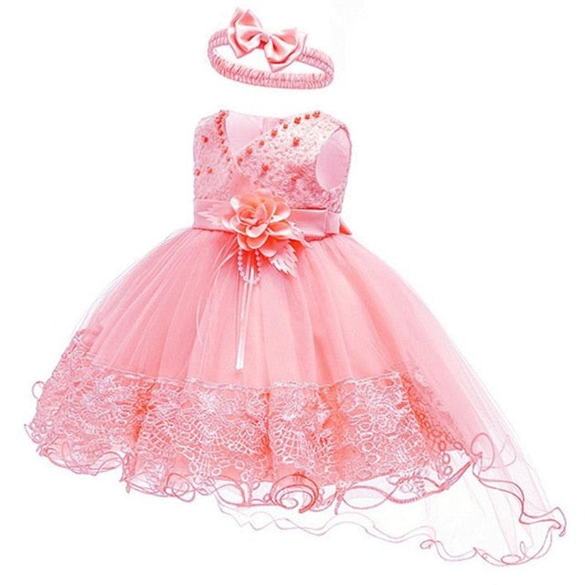 2019 Summer Easter Baby Girl Clothes Wedding Newborn Dress For Girl Princess Dress Infant 1 Year First Birthday Girl Party Dress-hipnfly-Pink-3M-hipnfly