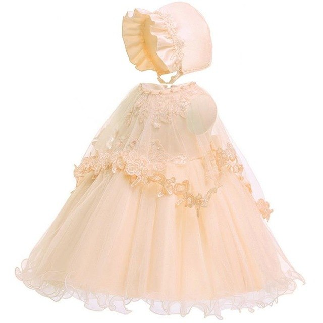 2019 Summer Baby Girl Clothes Wedding Newborn Dress For Girl Princess Dress Infant First Birthday Girl Party Dress 3 6 12 Month