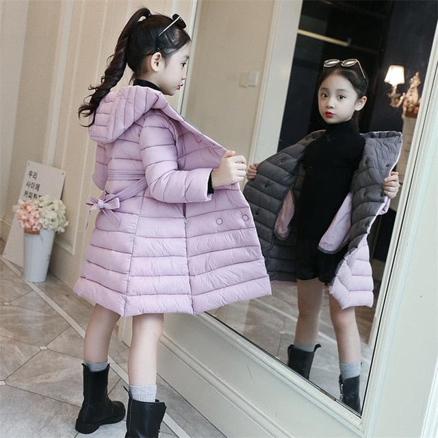 2019 Thick Winter Autumn Girls Clothes Long Denim Jacket For Girls Coat Kids Clothes Outerwear Hooded Children Clothing 12 Years-hipnfly-Purple-5-hipnfly