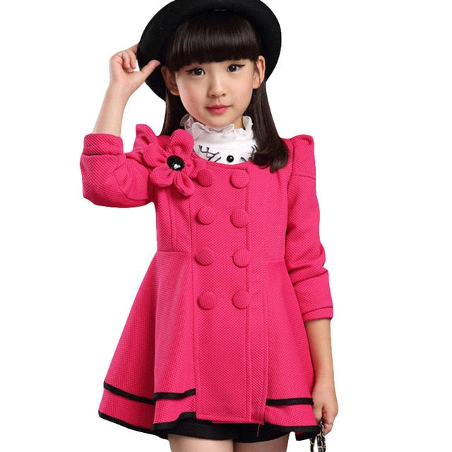 2019 Thick Winter Autumn Girls Clothes Long Denim Jacket For Girls Coat Kids Clothes Outerwear Hooded Children Clothing 12 Years-hipnfly-Mei Red-5-hipnfly
