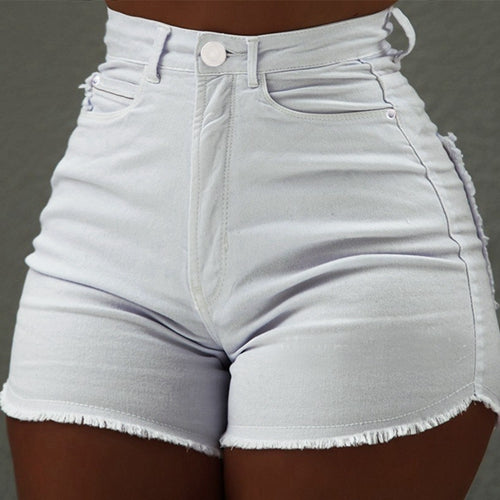High Waist Denim Shorts sexy tassel Short Jeans Women 2019 Summer Ladies Slim Hot Shorts black short pants Casual Jeans hotpants-hipnfly-WHITE-S-hipnfly