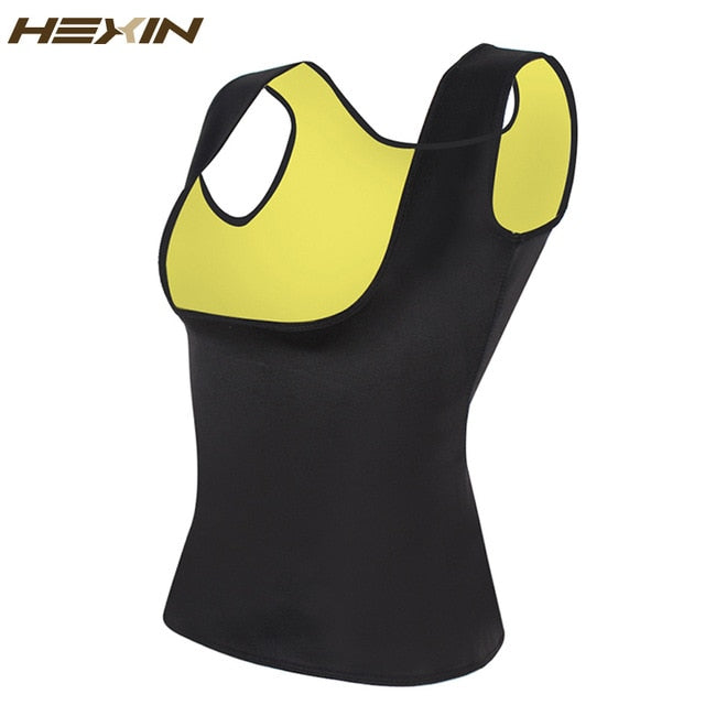 HEXIN Women's Sweat Waist Trainer Slimming Vest Waist Trainer Body Shaper for Weight Loss Shapewear Neoprene Shapers-hipnfly-Black-XXXL-hipnfly