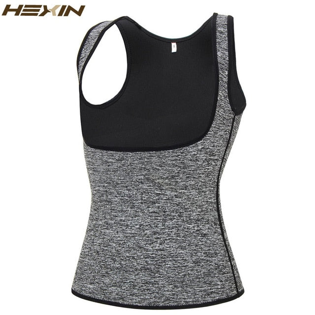 HEXIN Women's Sweat Waist Trainer Slimming Vest Waist Trainer Body Shaper for Weight Loss Shapewear Neoprene Shapers-hipnfly-Gray-M-hipnfly