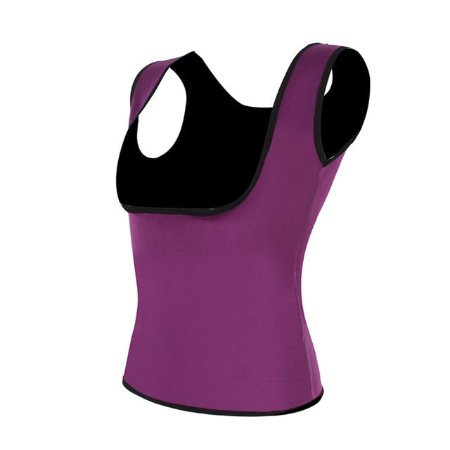 HEXIN Women's Sweat Waist Trainer Slimming Vest Waist Trainer Body Shaper for Weight Loss Shapewear Neoprene Shapers-hipnfly-Purple-XXXL-hipnfly