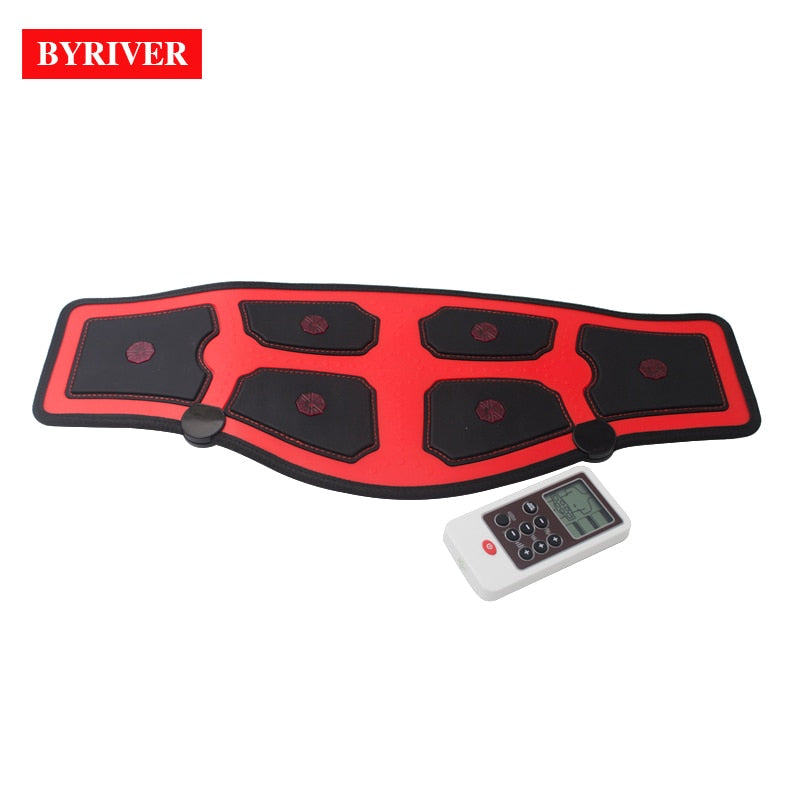 BYRIVER EMS Electric Slim Belt FIR Heating Waist Belly Health Therapy Massager Pulse Muscle Stimulator Acupuncture Stimulation-hipnfly-hipnfly